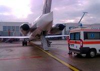 In attesa di un volo sanitario - Aeroporto di Ginevra (CH), 24.02.11