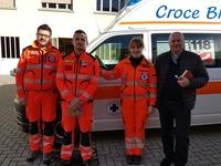 Benedizione nuova ambulanza postazione di Varallo Sesia
